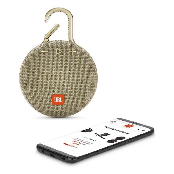 jbl clip 3 sand bluetooth speaker