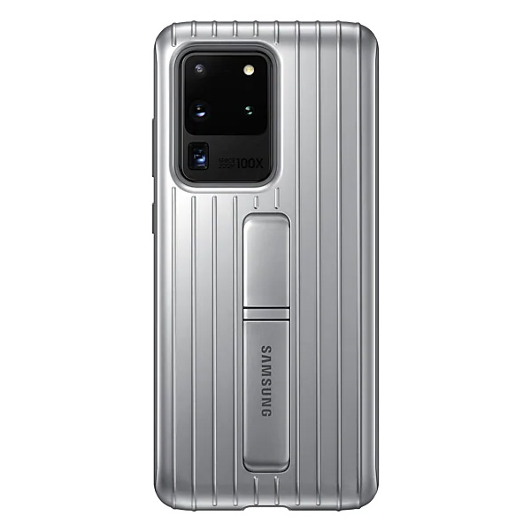 Samsung Galaxy S20 UltraProtective Standing Cover - Silver